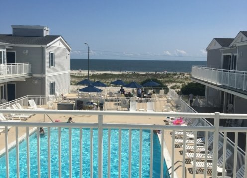 Ocean City Beachfront Condo with Heated Pool and Direct Ocean View